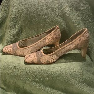 Gold shoes with Silver embellishments